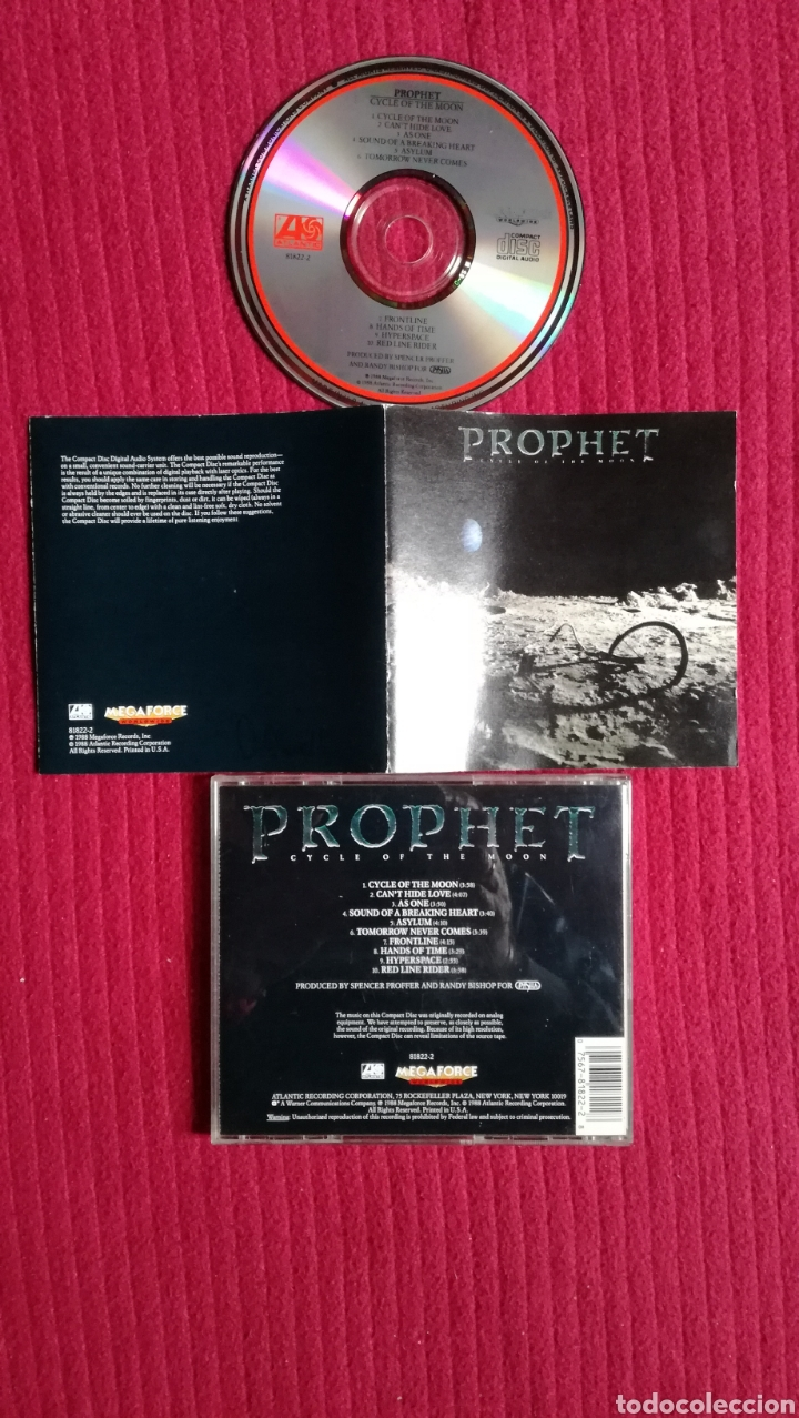 PROPHET: CYCLE OF THE MOON. EXCELENTE CD AOR. PRIMERA EDICIÓN 1988 ATLANTIC. (Música - CD's Rock)