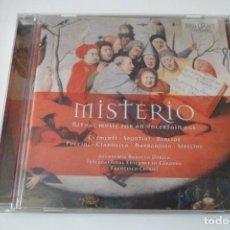 CDs de Música: MISTERIO. RITUAL MUSIC FOR AN UNCERTAIN AGE. ACCADEMIA BAROCCA DORICA. F. CHIRIVI. BRILLIANT. Lote 199416638