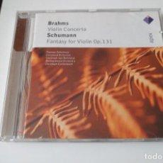 CDs de Música: BRAHMS. VIOLIN CONCERTO - SCHUMANN. FANTASY FOR VIOLIN OP. 131 APEX. Lote 199424498
