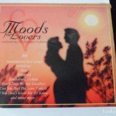 CDs de Música: MOODS FOR LOVERS. 60 INSTRUMENTAL LOVE SONGS. SENSUAL MOODS. A MAN & A WOMAN.. ESTUCHE 3 CD´S. Lote 199426691