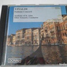 CDs de Música: VIVALDI. FAMOUS CONCERTI. ACADEMY OF ST. JOHN. T. TOMASÊK. DONAU. Lote 199428110
