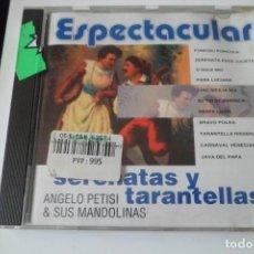CDs de Música: ESPECTACULAR SERENATAS Y TARANTELLAS. ANGELO PETISI Y SUS MANDOLINAS. Lote 199428278