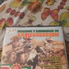 CDs de Música: PACK DE 2 CDS. CORRIDOS Y RANCHERAS DE LA REVOLUCION. VARIOS ARTISTAS. EDICION DE 1999.. Lote 199503650