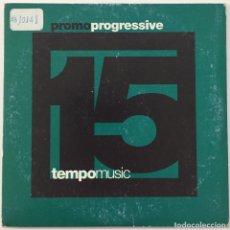 CDs de Música: CD SINGLE PROMOCIONAL - PROMO PROGRESSIVE 15. TEMPO MUSIC. Lote 199634130