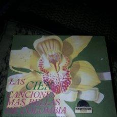 CDs de Música: PACK DE 5 CDS. LAS CIEN CANCIONES MÁS BELLAS DE COLOMBIA. VARIOS ARTISTAS. EDICION COLOMBIANA RARA. Lote 199804313