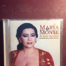 CD de Música: MARÍA DEL MONTE: EL DOLOR DEL AMOR.. Lote 199884372
