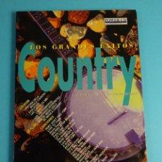 CDs de Música: LOS GRANDES ÉXITOS COUNTRY. CD-ROM+ 12 TEMAS EN V.O. VER INTERPRETES. Lote 199917372