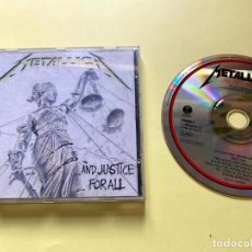 CDs de Música: METALLICA - AND JUSTICE FOR ALL. Lote 199920886
