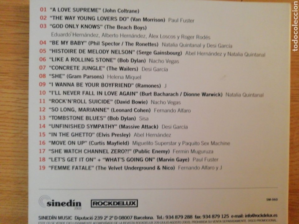 CDs de Música: The Rockdelux Experience. 30.10.2002. - Foto 2 - 199949237