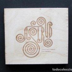 CDs de Música: ASTRUD – TODO NOS PARECE UNA MIERDA – SINNAMON RECORDS CD 2004 CAJA DE MADERA. Lote 199987078