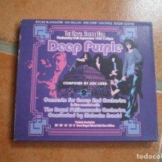 CDs de Música: DOBLE CD. DEEP PURPLE. CONCIERTO. LIBRETO. BUENA CONSERVACION. Lote 200006440