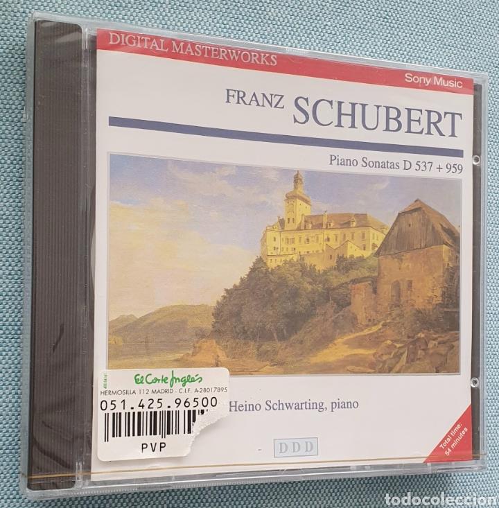 F.SCHUBERT. SONATAS PARA PIANO D 537 Y D 959.HEINO SCHWARTING,PIANO. SONY. PRECINTADO.CD (Música - CD's Clásica, Ópera, Zarzuela y Marchas)