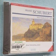 CDs de Música: F.SCHUBERT. SONATAS PARA PIANO D 537 Y D 959.HEINO SCHWARTING,PIANO. SONY. PRECINTADO. Lote 200016882