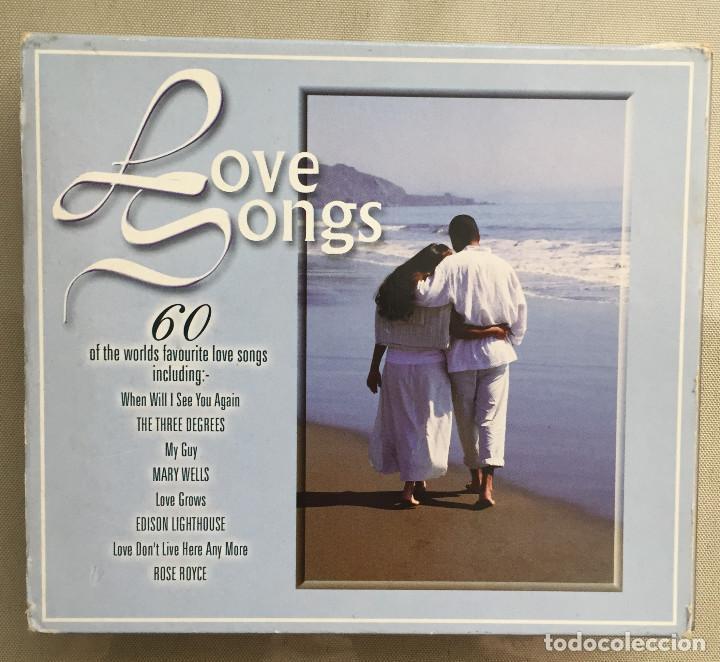 LOVE SONGS - CANCIONES DE AMOR - VARIOS INTERPRETES - 3 CDS - 60 CANCIONES - TIME MUSIC - 1998 (Música - CD's Melódica )