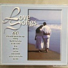 CDs de Música: LOVE SONGS - CSNCIONES DE AMOR - VARIOS INTERPRETES - 3 CDS - 60 CANCIONES - TIME MUSIC - 1998. Lote 200070291