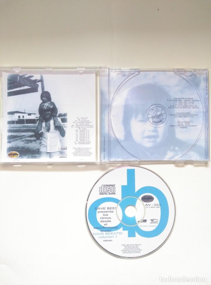 CDs de Música: CD DAVE BEE - DAVE BEEATS VOL1 - 1999 HIP HOP - Foto 3 - 200264026