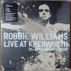 CDs de Música: ROBBIE WILLIAMS LIVE AT KNEBWORTH SUPERDELUXE BOX SET *LIBRO + 2CD+2DVD+BLUE RAY * PRECINTADO!!. Lote 200275618
