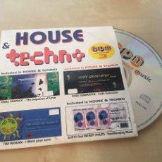 CDs de Música: HOUSE & TECHNO - CD PROMO RADIO SINGLE. Lote 200332157