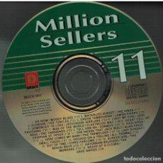 CD di Musica: MILLION SELLERS VOL.11-TURTLES,MOODY BLUES,KINKS,YARDBIRD,BEACH BOYS,ZOMBIES. CD SIN CARÁTULA. Lote 200345887