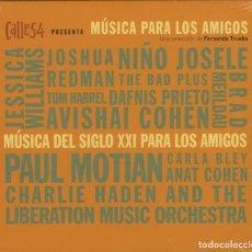 CDs de Musique: MÚSICA PARA LOS AMIGOS / FER. TRUEBA / 2012 SONY MUSIC CD DIGIPACK ESPAÑA ¡¡¡PRECINTADO!!!. Lote 200350480