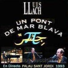 CDs de Música: LLUIS LLACH – UN PONT DE MAR BLAVA EN DIRECTO. Lote 200402447