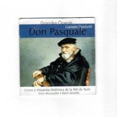 CDs de Música: GRANDES ÓPERAS - GAETANO DONÍZETTÍ - DON PASQUALE. Lote 200511913