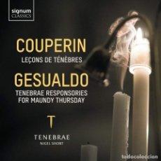 CD de Música: COUPERIN, GESUALDO - LEÇONS DE TENEBRES, RESPONSORIOS (CD) TENEBRAE. Lote 200527406