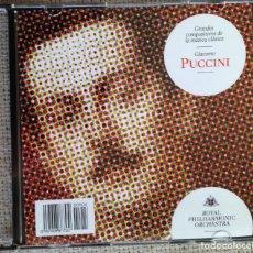 CDs de Música: CD GRANDES COMPOSITORES DE LA MÚSICA CLÁSICA - PUCCINI - ROYAL PHILARMONIC ORCHESTRA. Lote 200600956