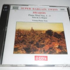 CDs de Música: BRAHMS. PIANO TRIOS NS. 1 - 3. VIENNA PIANO TRIO. NAXOS 2 CD´S. Lote 200633472