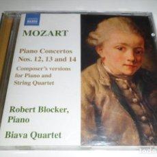 CDs de Música: MOZART. PIANO CONCERTOS NS. 12, 13 & 14 ROBERT BLOCKER. BIAVA QUARTET. NAXOS . Lote 200633990