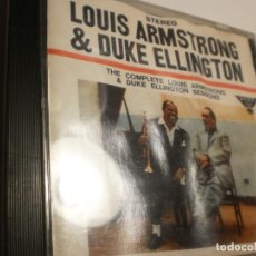 CDs de Música: CD LOUIS AMSTRONG & DUKE ELLINGTON. THE COMPLETE SESSIONS. 16 TEMAS EMI 1990 CANADA (ESTADO NORMAL). Lote 200809255