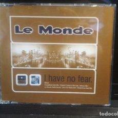 CDs de Música: LE MONDE I HAVE NO FEAR CD 6 TRACK 1997 STIP RECORDS PEPETO. Lote 201170343
