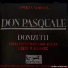 CDs de Música: DON PASQUALE 2 CD + LIBRETO - DONIZETTI. Lote 201175058