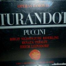 CDs de Música: TURANDOT 2CD + LIBRETO - PUCCINI. Lote 201175063