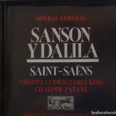 CDs de Música: SANSON Y DALILA 2CD + LIBRETO - SAINT-SAËNS. Lote 201175068