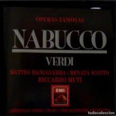 CDs de Música: NABUCCO 2CD + LIBRETO - VERDI. Lote 201175080
