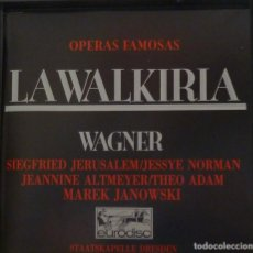 CDs de Música: LA WALKIRIA 4CD + LIBRETO - WAGNER. Lote 201175083