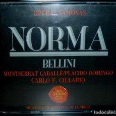 CDs de Música: NORMA 3CD + LIBRETO - BELLINI. Lote 201175085
