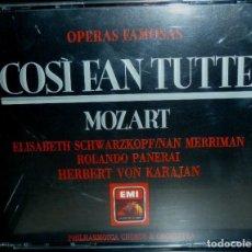 CDs de Música: COSÌ FAN TUTTE 3CD + LIBRETO - MOZART. Lote 201175090