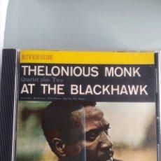 CDs de Música: THELONIOUS MONK QUARTET PLUS TWO - AT THE BLACKHAWK (ORIGINAL JAZZ CLASSICS, GERMANY, 1987). Lote 201209733