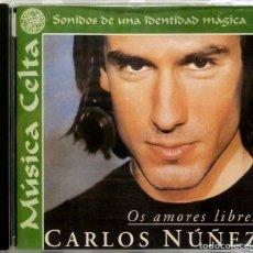 CDs de Música: CARLOS NUÑEZ, OS AMORES LIBRES - VARIOS. Lote 201193426
