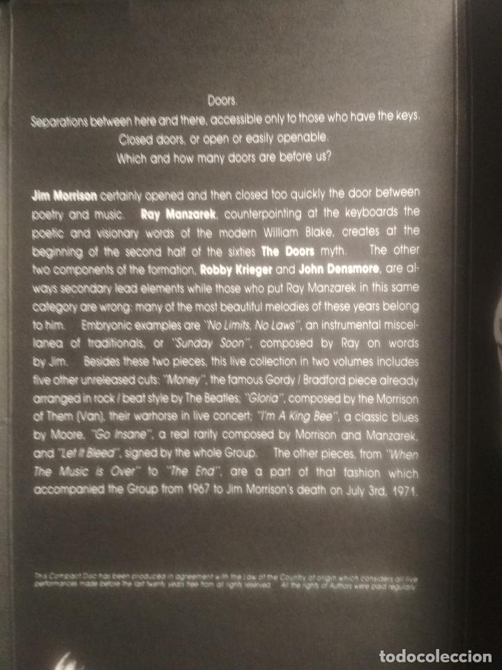 CDs de Música: THE DOORS GO INSANE - VOL 1 & 2. CD/SPCIAL ITALIA 1991 PEPETO TOP - Foto 10 - 201261363