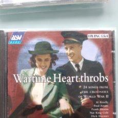 CDs de Música: WARTIME HEARTHROBS (24 CANCIONES DE CROONERS DE LA 2ª GUERRA MUNDIAL). Lote 201282045