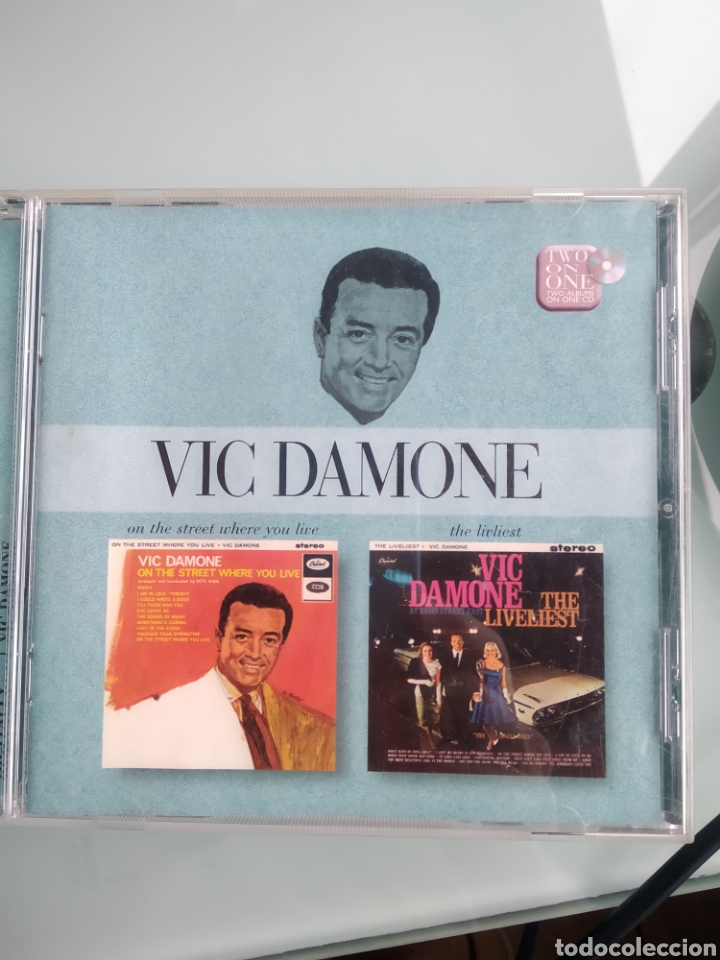VIC DAMONE ‎– ON THE STREET WHERE YOU LIVE & THE LIVELIEST (Música - CD's Melódica )