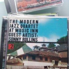 CDs de Música: THE MODERN JAZZ QUARTET GUEST ARTIST: SONNY ROLLINS – THE MODERN JAZZ QUARTET AT MUSIC INN, VOL. 2. Lote 201289812