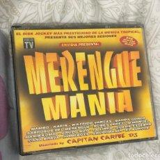 CDs de Música: ALBUM RECOPILATORIO MERENGUEMANIA 4 CD ENVIDIA MERENGUE MANIA GRUPO MAMBO KARIS WILFRIDO VARGAS LP. Lote 201567485