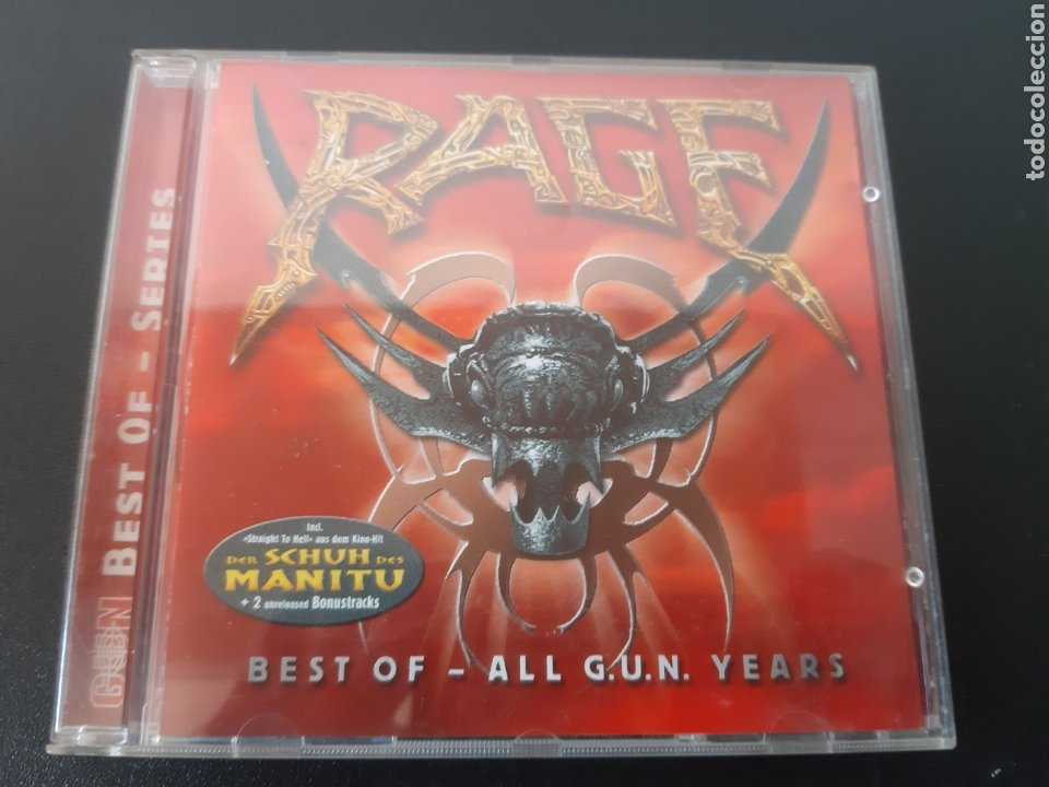 RAGE. BEST OF- ALL G.U.N YEARS. GERMANY. MUY DIFICIL!!! (Música - CD's Heavy Metal)