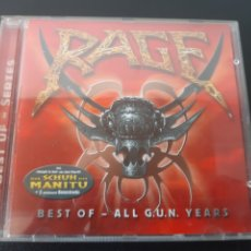 CDs de Música: RAGE. BEST OF- ALL G.U.N YEARS. GERMANY. MUY DIFICIL!!!. Lote 201764227
