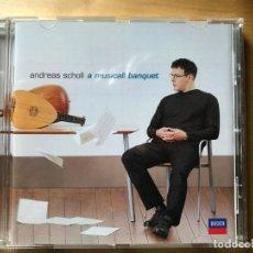 CDs de Música: ANDREAS SCHOLL - A MUSICALL BANQUET. Lote 201796398