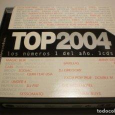 CDs de Música: CD 3 DISCOS. TOP 2004 LOS NÚMEROS 1 DEL AÑO. DIVUCSA 2004 SPAIN (ESTADO NORMAL). Lote 201893958